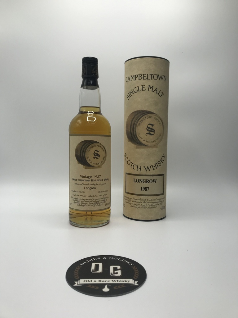 Longrow 1987 Signatory cask #149-151 70cl 43%