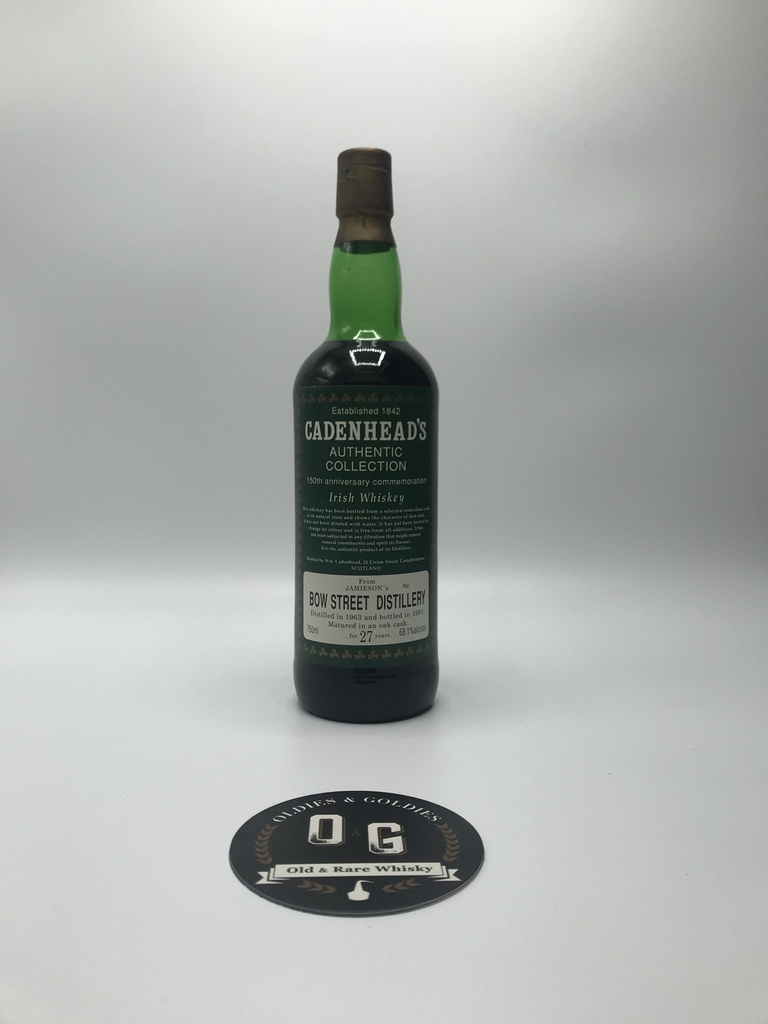 Bow Street (Jameson)1963/1991-27y 68,1% 75cl