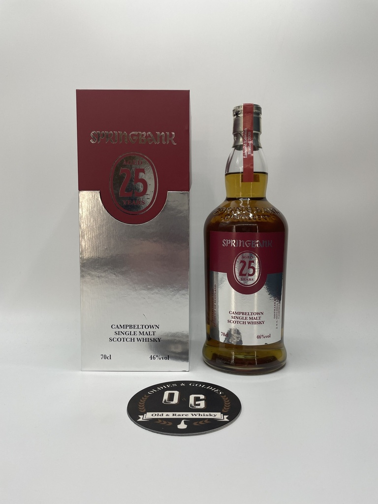 Springbank 25y (Bottled 2020) 46% 70cl