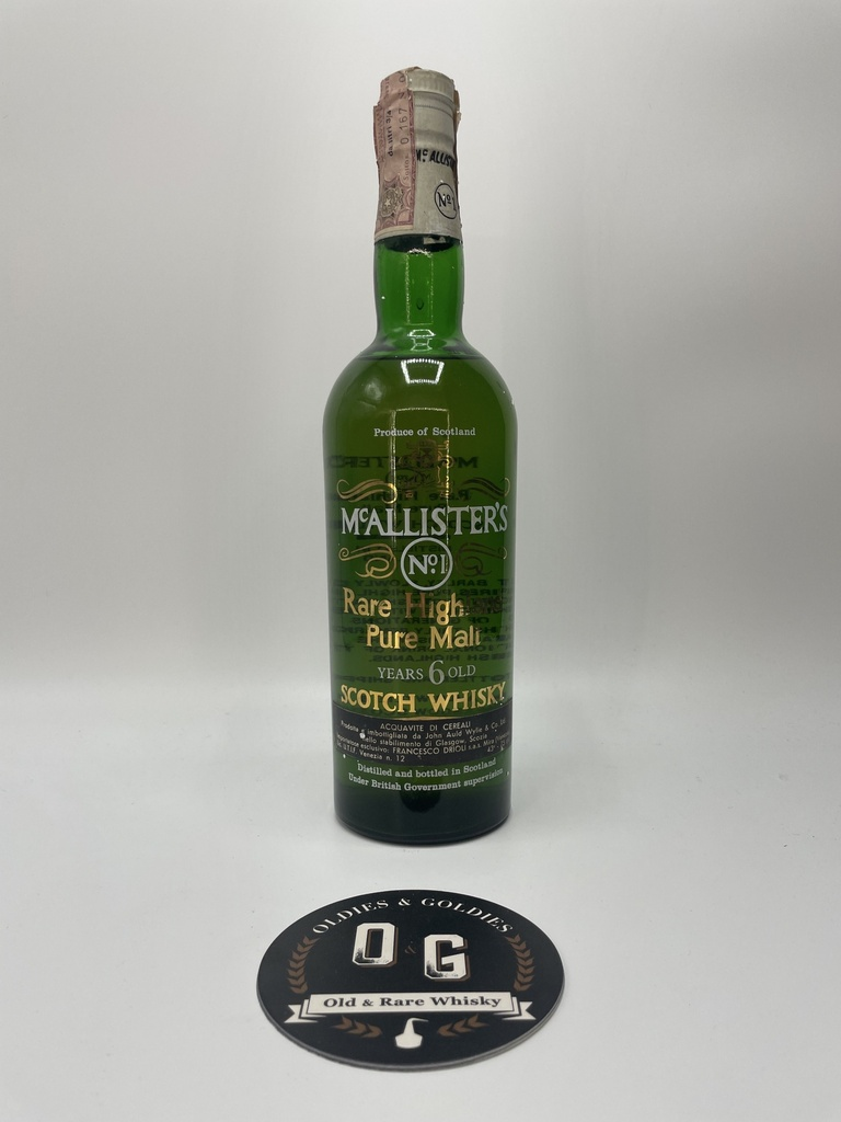 Mc Allister's 6y (Rare Highland pure Malt) 75cl 43%